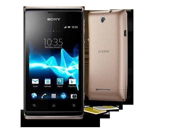 Sony Xperia E (C1604) Champagne Dual SIM - Android 4.1 (Jelly Bean), 3.5