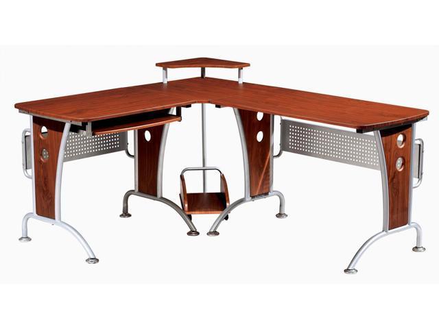 techni mobili rta3806m615 lshaped computer desk mahogany - Lshaped Desk