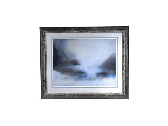 Crestview Misty Morning Horizon Framed Print Art