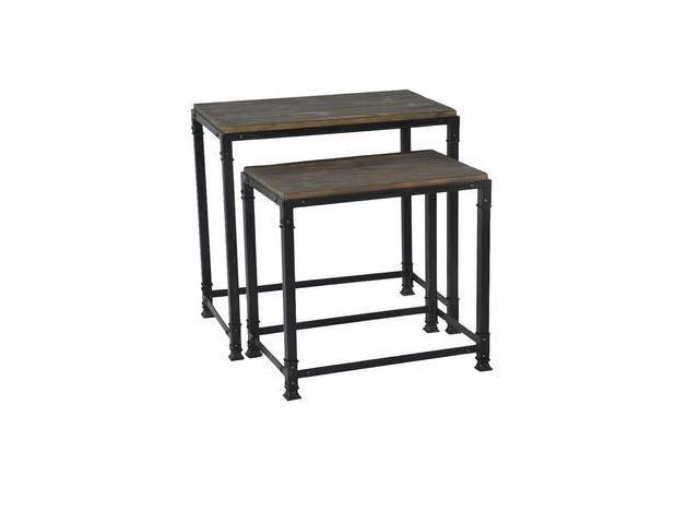 Madison Park Cirque Nesting Tables In Grey