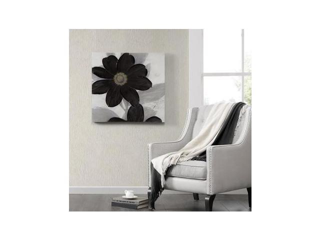 Madison Park Midnight Bloom Canvas With Hand Embellishment Ecommerce