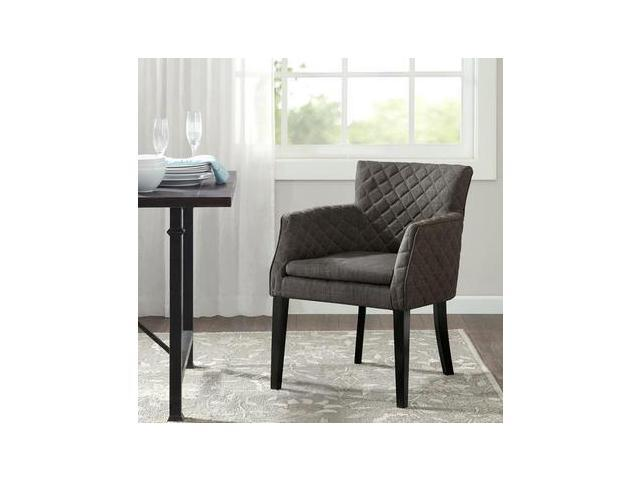 Madison Park Rochelle Quilted Dining Chair In Charcoal
