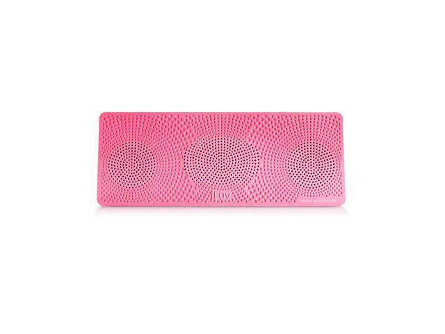 iLuv Portable Bluetooth Speaker - Neon Pink