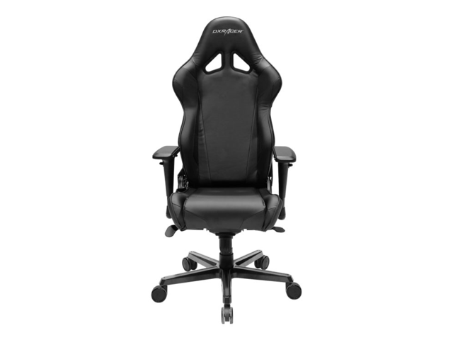 DXRacer Racing Series OH/RV001/N Newedge Edition Racing Bucket Seat Office Chair Gaming Chair PVC Ergonomic Computer Chair eSports Desk Chair Executive Chair With Pillows