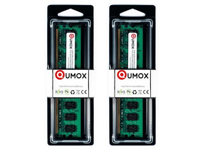 QUMOX 2 x 2GB 800 DDR2-2 GB PC2-6400 DDR PC DIMM RAM DESKTOP 800MHz HK164x2