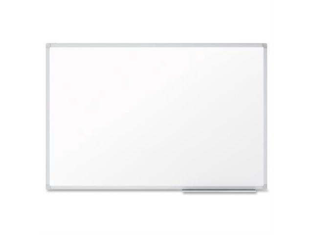 """MeadWestvaco Dry-Erase Board, 2""""x1-1/2"""", Aluminum Frame - 24"""" Width x 18"""" Height - White Melamine Surface - Silver Aluminum ..."""
