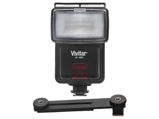Vivitar SF-4000 Auto Bounce Zoom Slave Flash with Bracket