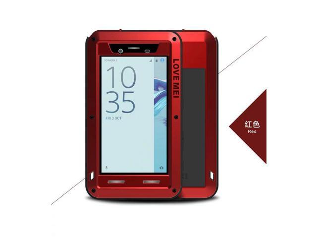 Love Mei Shockproof Waterproof Metal Aluminum Case For Sony Xperia X Compact - Red