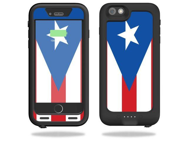 Skin Decal Wrap for Mophie Juice Pack H2Pro iPhone 6/6s Plus Puerto Rican Flag