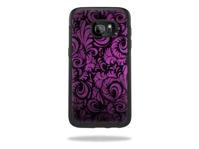 Skin Decal Wrap for OtterBox Symmetry Samsung Galaxy S7 Edge Purple Style
