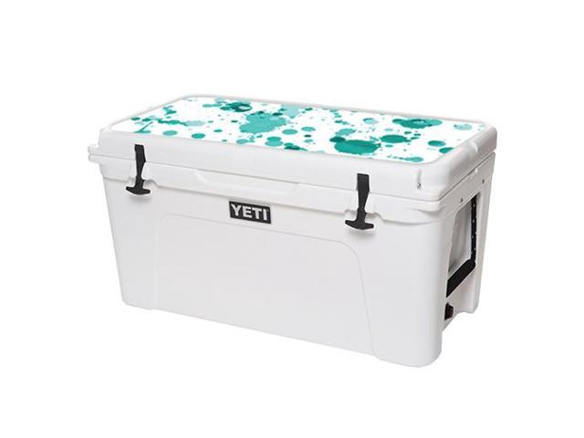 Skin Decal Wrap for YETI Tundra 75 qt Cooler Lid sticker Teal Splatter