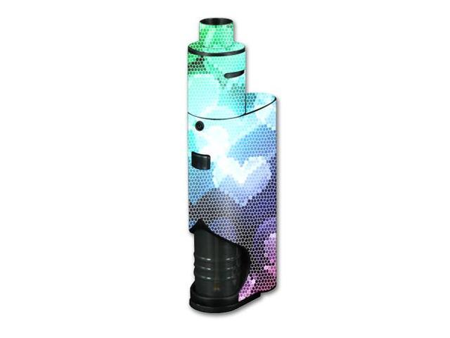 Skin Decal Wrap for Kanger Dripbox vape Colorful Hearts