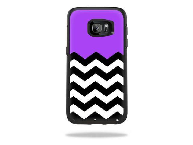 Skin Decal Wrap for OtterBox Symmetry Samsung Galaxy S7 Case Purple Chevron
