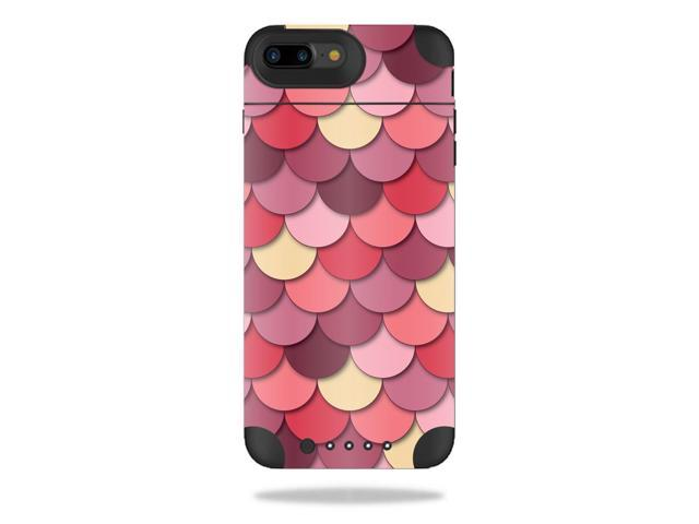 Skin Decal Wrap for Mophie Juice Pack Air iPhone 7 Plus Case Pink Scales