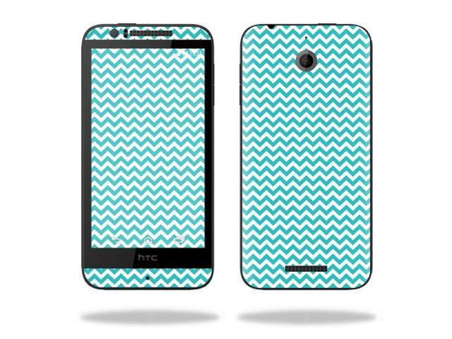 Skin Decal Wrap for HTC Desire 510 cover sticker skins Turquoise Chevron