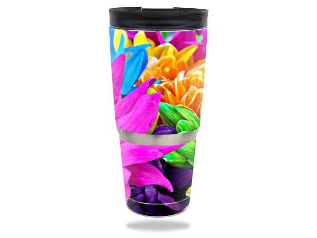 Skin Decal Wrap for ENGEL 30 oz Tumbler Colorful Flowers