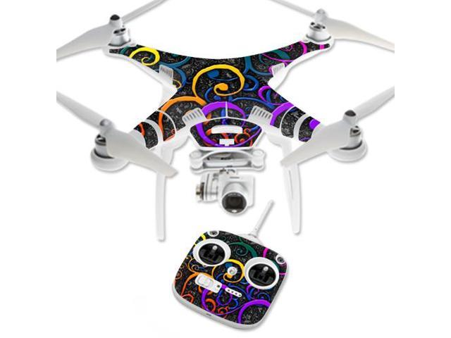 Skin Decal Wrap for DJI Phantom 3 Standard Quadcopter Drone Color Swirls