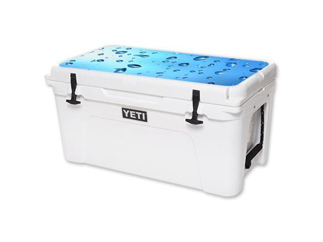 Skin Decal Wrap for YETI Tundra 65 qt Cooler Lid sticker Water Droplets