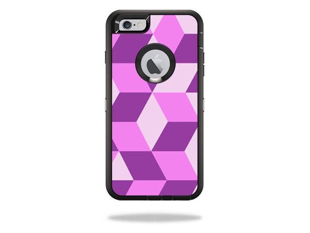 Skin Decal Wrap for OtterBox Defender iPhone 6 Plus/6s Plus Case Pink Geo Tile