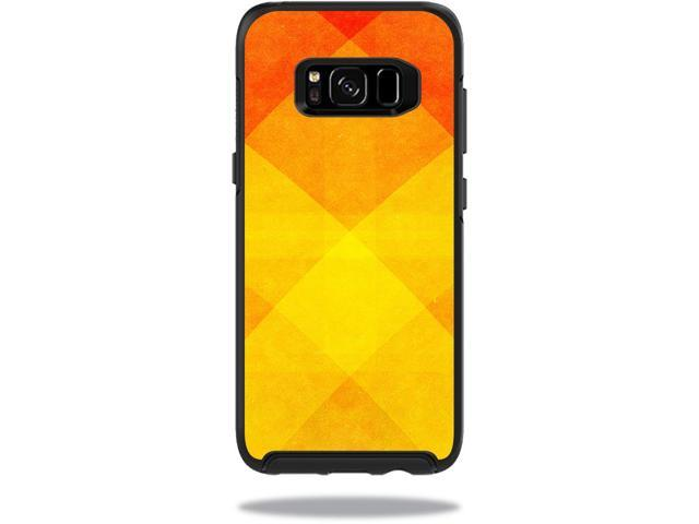 Skin Decal Wrap for OtterBox Symmetry Samsung Galaxy S8 Case Orange Texture