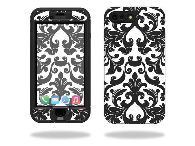 Skin Decal Wrap for Lifeproof Nuud iPhone 7 Plus sticker Black Damask