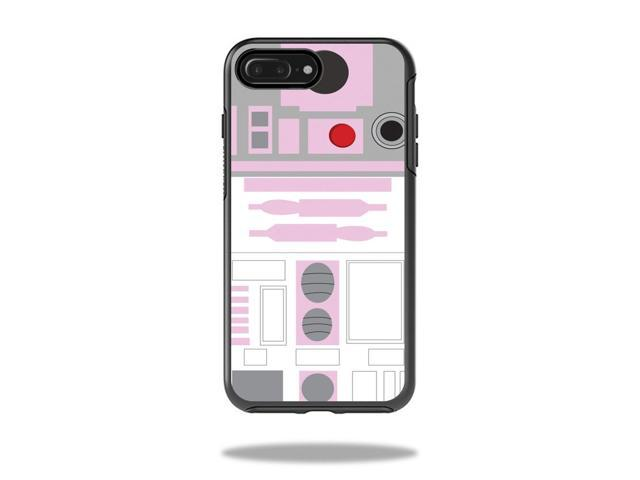 Skin Decal Wrap for OtterBox Symmetry iPhone 7 Plus Case Pink Cyber Bot