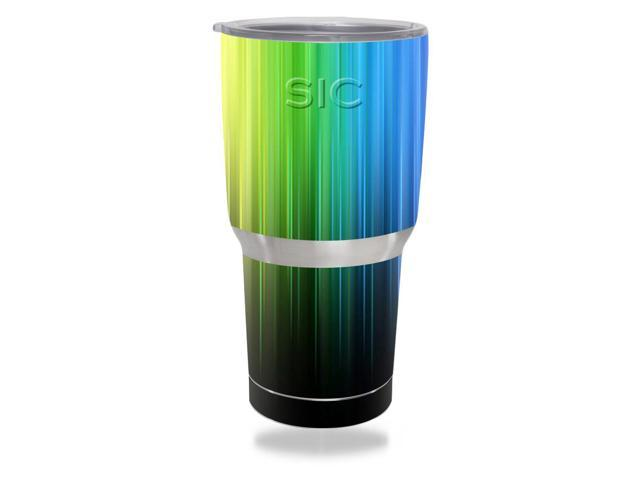 Skin Decal Wrap for SIC 30 oz Tumbler (Seriously Ice Cold) Rainbow Streaks