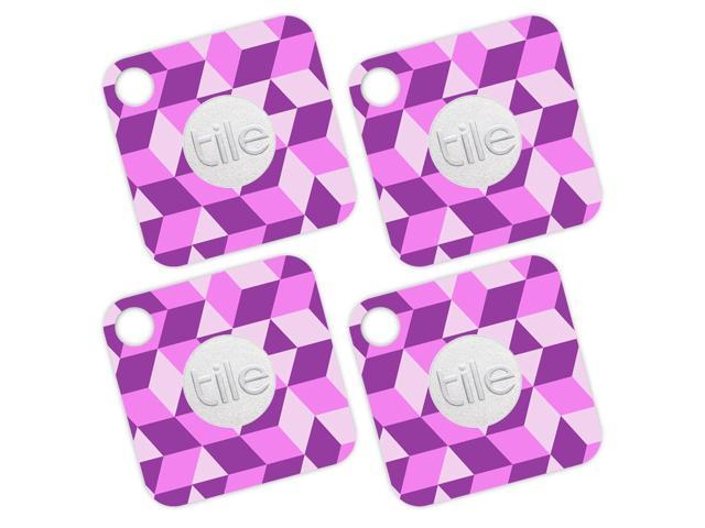 Skin Decal Wrap for Tile Mate (4 pack) sticker Pink Geo Tile