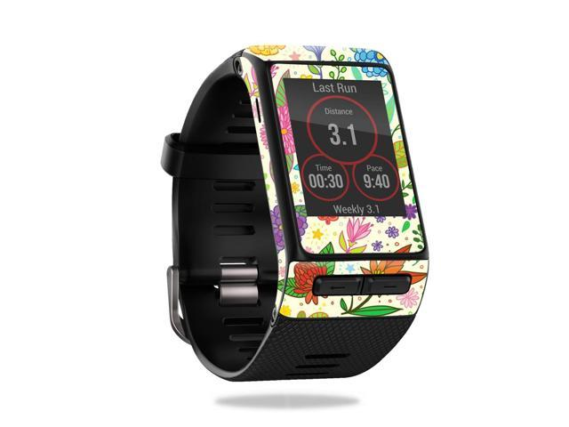 Skin Decal Wrap for Garmin Vivoactive HR Flower Garden