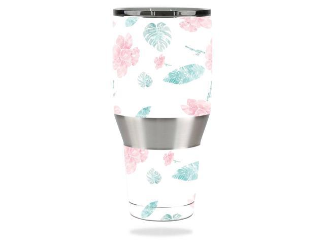 Skin Decal Wrap for Ozark Trail 40 oz Tumbler cover sticker Flower Power White