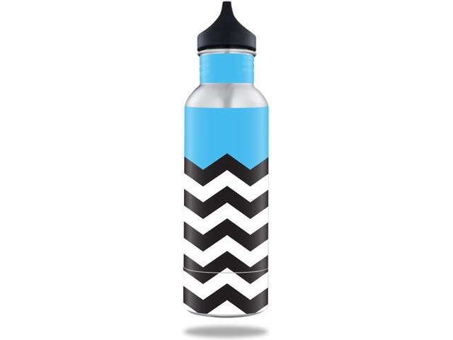 Skin Decal Wrap for BottleKeeper 12 oz Standard sticker Baby Blue Chevron