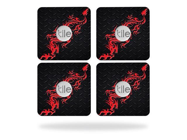 Skin Decal Wrap for Tile Slim Key Finder (4 pack) Red Dragon