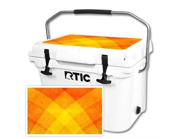 Skin Decal Wrap for RTIC 20 Cooler Lid Orange Texture