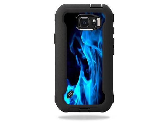 Skin Decal Wrap for OtterBox Defender Galaxy S6 Active Case Blue Flames