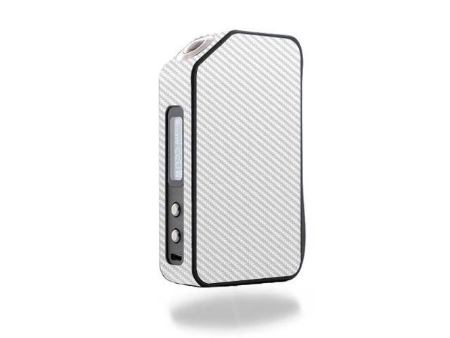 Skin Decal Wrap for Wotofo Stentorian Chieftain 220W vape White Carbon Fiber
