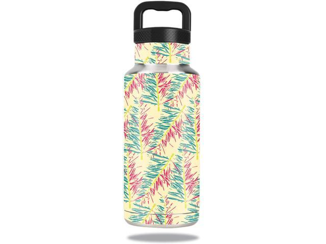 Skin Decal Wrap for Ozark Trail Water Bottle 36 oz sticker Electric Palms