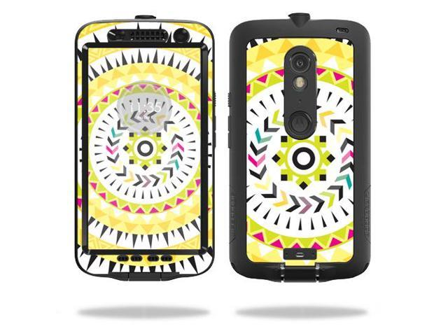 Skin Decal Wrap for LifeProof Motorola Droid Maxx 2 fre Yellow Aztec