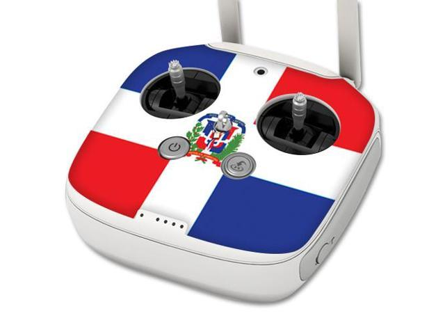 Skin Decal Wrap for DJI Phantom 3 Professional Drone Controller Dominican Flag