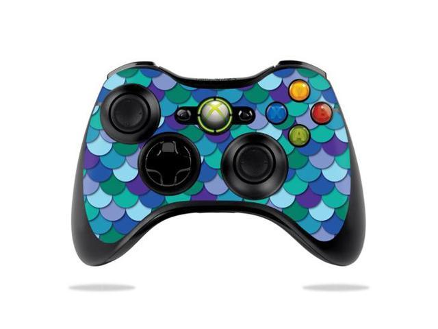 Skin Decal Wrap for Microsoft Xbox 360 Controller Blue Scales