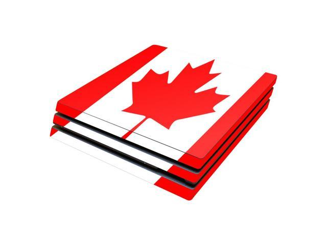 Skin Decal Wrap for Sony PlayStation 4 Pro PS4 Canadian Flag