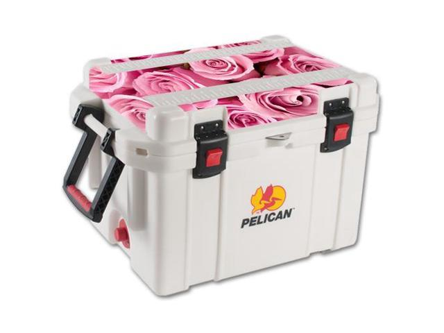 Skin Decal Wrap for Pelican 35 qt Cooler Lid sticker Pink Roses