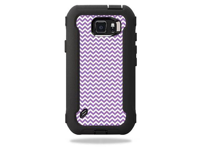 Skin Decal Wrap for OtterBox Defender Galaxy S6 Active Case Lavender chevron