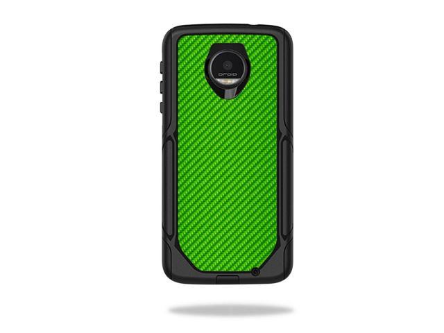 Skin Decal Wrap for OtterBox Commuter Moto Z /Moto Z Droid Ed Lime Carbon Fiber