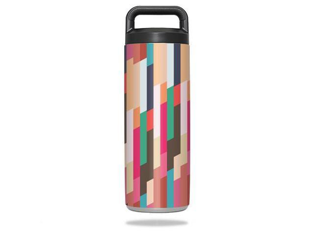 Skin Decal Wrap for YETI Rambler Bottle 18 oz cover sticker Crazy Stripes