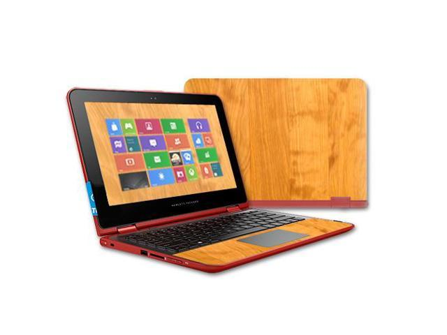 Skin Decal Wrap for HP Pavilion x360 11t Touch (2015) cover Birch Wood Grain