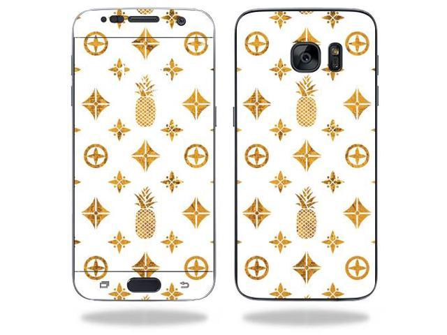 Skin Decal Wrap for Samsung Galaxy S7 cover sticker Gold Pineapples