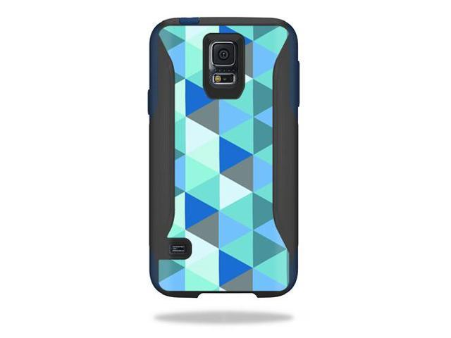 Skin Decal Wrap for OtterBox Commuter Samsung Galaxy S5 Case Blue Kaleidoscope