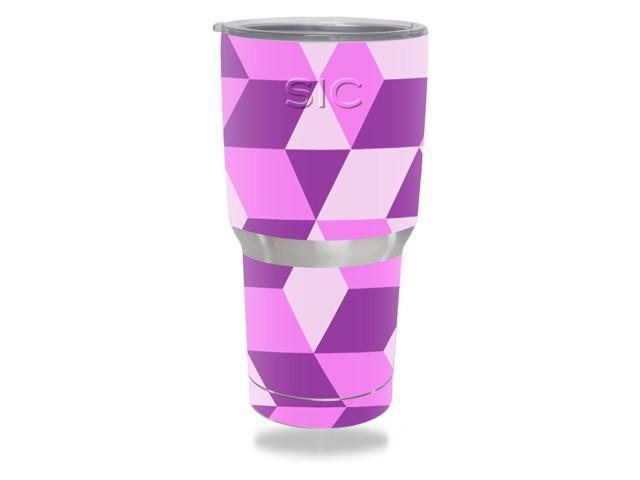 Skin Decal Wrap for SIC 30 oz Tumbler (Seriously Ice Cold) Pink Geo Tile