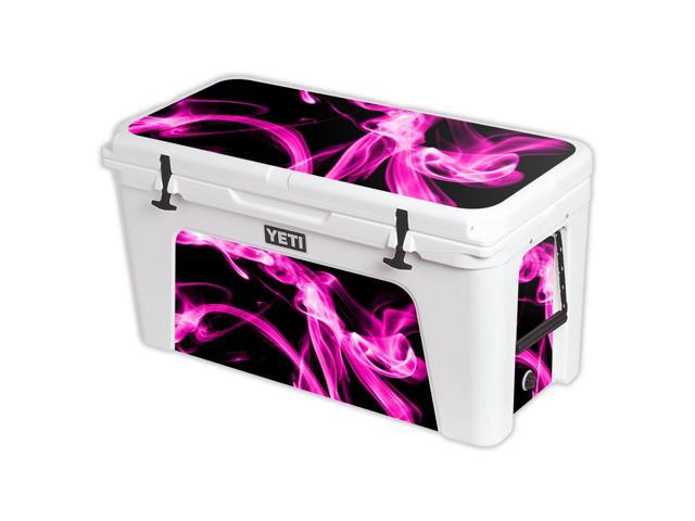 Skin Decal Wrap for YETI Tundra 110 qt Cooler cover sticker Pink Flames