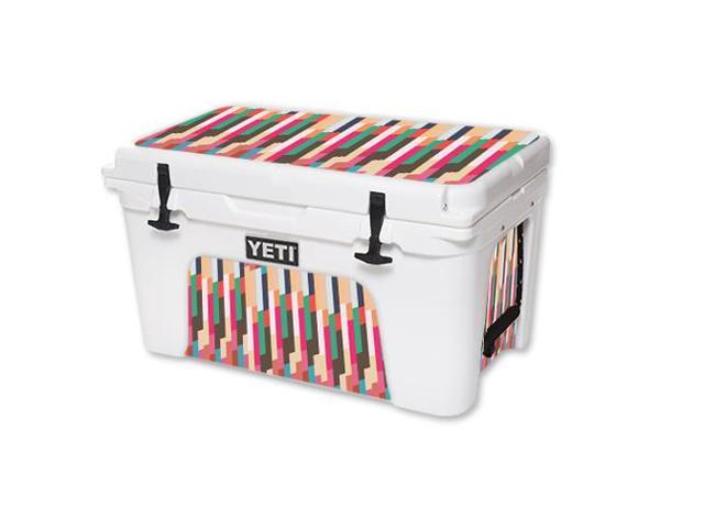 Skin Decal Wrap for YETI Tundra 45 qt Cooler Crazy Stripes